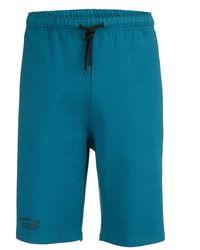 Men Plus Sweat-Bermuda - Blau