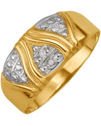KLiNGEL Damenring mit Diamant - Mettallic
