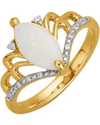KLiNGEL Damenring mit Opal Weiß