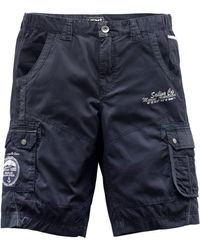 Men Plus Cargobermuda - Blauw
