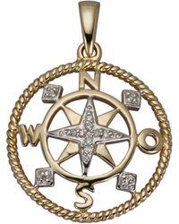 Amy Vermont Hanger Kompas - Metallic