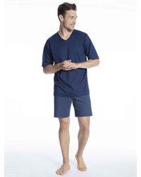 Mey Kurz-Pyjama - Blau