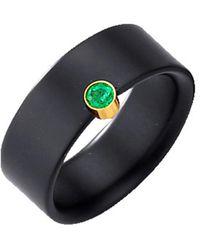 Diemer Farbstein Ring Van Onyx - Zwart
