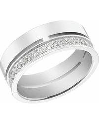 S.oliver Ring für Damen, Edelstahl mit Zirkonia - Mettallic