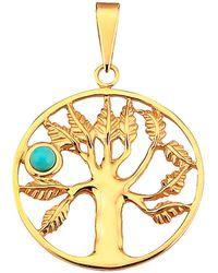 KLiNGEL Lebensbaum-Anhänger in Gelbgold