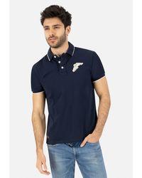 Goodyear Poloshirt FAIRBORN mit cooler Markenstickerei - Blau