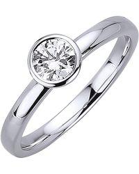 Diemer Solitär Ring - Wit