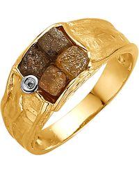 KLiNGEL Damenring mit Rohdiamanten - Gelb
