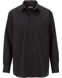 Men Plus Overhemd - Zwart
