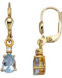 KLiNGEL Ohrringe mit Blautopasen