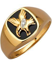 Diemer Gold Herenring Adelaar - Zwart