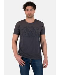 Goodyear T-Shirt ROBY in lässiger Vintage-Optik - Blau