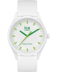 Ice-watch Solaruhr Nature M Weiß / Grün Weiß