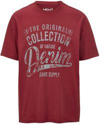 Men Plus T-shirt - Rood