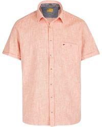 Jupiter Lässiges Herrenhemd Kurzarm - Pink