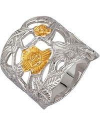 Ursula Christ Ring Bloem - Metallic