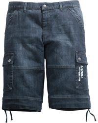 Men Plus Jeansbermuda - Blauw