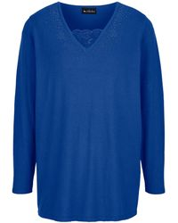 m. collection Pullover - Blau
