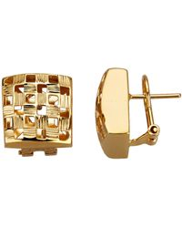 Diemer Gold Clip-oorstekers - Metallic