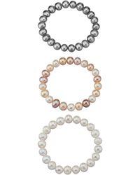 diemer perle Set Van 3 Armbanden - Metallic