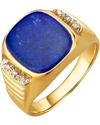 KLiNGEL Herenring Met Lapis Lazuli - Blauw