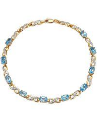 Diemer Farbstein Armband Met - Blauw