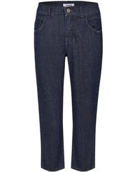 ANGELS Capri-Jeans 'Day' im Used-Look - Blau