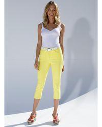 Amy Vermont Capri-jeans - Geel