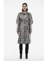 Koche Kimono Coat Black & White Python Vegan Leather