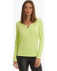Koral Innate Marlow Long Sleeve Top - Citrina - Green