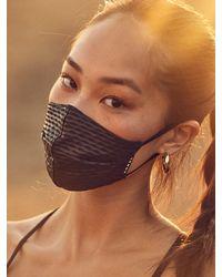 Koral Shiny Netz Face Mask - Black