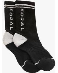 Koral Balance French Terry Logo Sock - Black