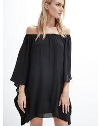 Krisa - Draped Off Shoulder Mini Dress - Lyst