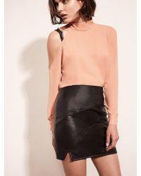 Krisa - Paneled Mini Skirt - Lyst