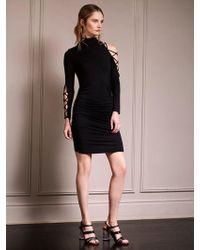 Krisa - Lace Up Sleeve Turtleneck Dress - Lyst