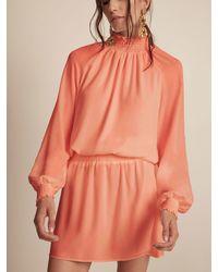 Krisa Smocked Turtleneck L/s Mini - Orange