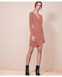 Krisa - Asymmetrical Surplice Mini Dress - Lyst