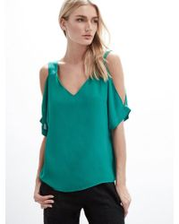 Krisa - Cold Shoulder Cuffed Tee - Lyst