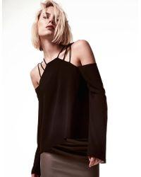 Krisa - Strap Shoulder Long Sleeve - Lyst