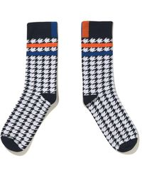 Kule The Women's Houndstooth Sock - Blue
