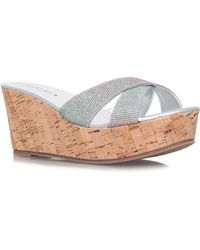 Carvela Kurt Geiger Kable Mid Wedge Sandals - Metallic