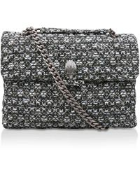 Kurt Geiger - Tweed Lg Kensington X Bag - Lyst