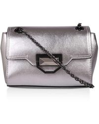 Nine West Rowen No Heel Handbags Silver Synthetic - Metallic