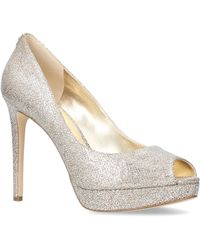 MICHAEL Michael Kors - Erika Platform In Silver Combination - Lyst