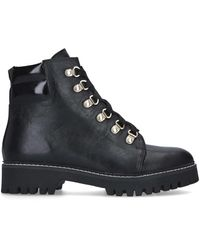 Carvela Kurt Geiger Lace Up Hiker Boots - Black