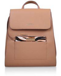 Carvela Kurt Geiger Slinky Backpack With Pk Handbags Camel Backpack - Brown