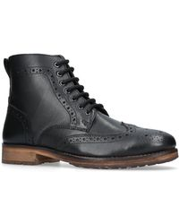 Kurt Geiger Harry Black Leather Boots