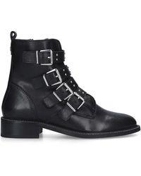 Carvela Kurt Geiger Buckled Biker Boot - Black