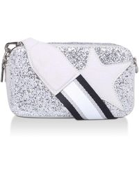 Steve Madden Silver Glitter Star Cross Body Bag - Metallic