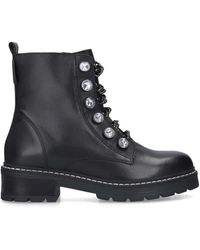 Kurt Geiger - Embellished Chain Combat Boots - Lyst